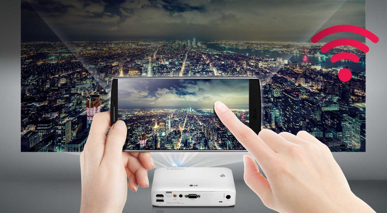 CN PH550G FEATURE03 - 新品   无线连接与长时间使用,全新LG PH550G投影机发布!