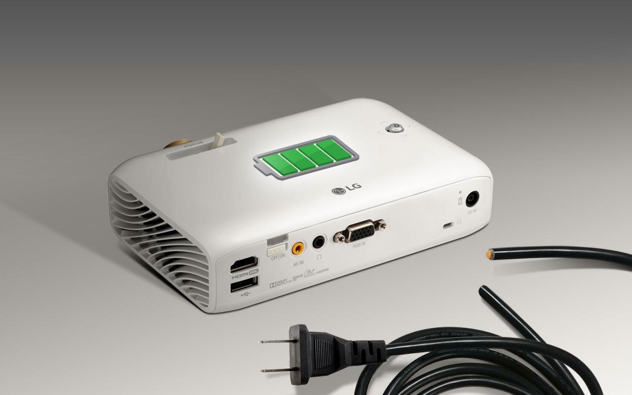 CN PH550G FEATURE04 - 新品   无线连接与长时间使用,全新LG PH550G投影机发布!