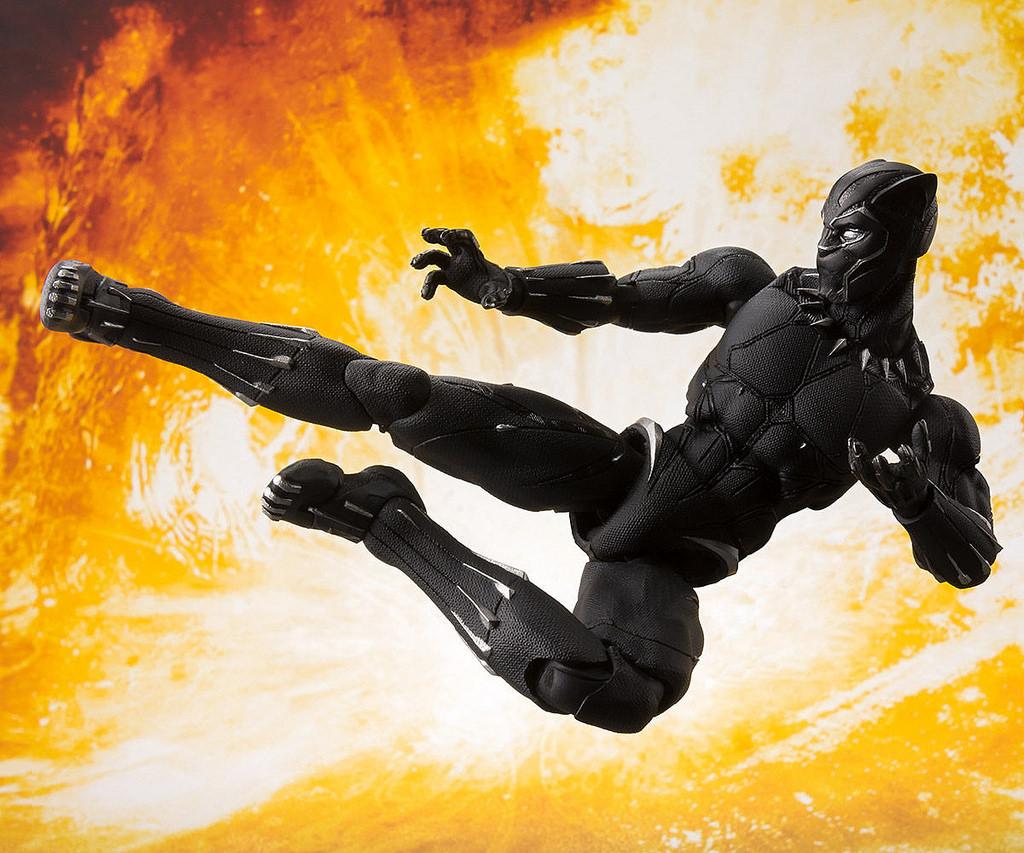 周边 | 瓦干达的漆黑帝王霸气参战!! S.H.Figuarts《复仇者联盟3:无限战争》黑豹 ブラックパンサー(アベンジャーズ/インフィニティ?ウォー)