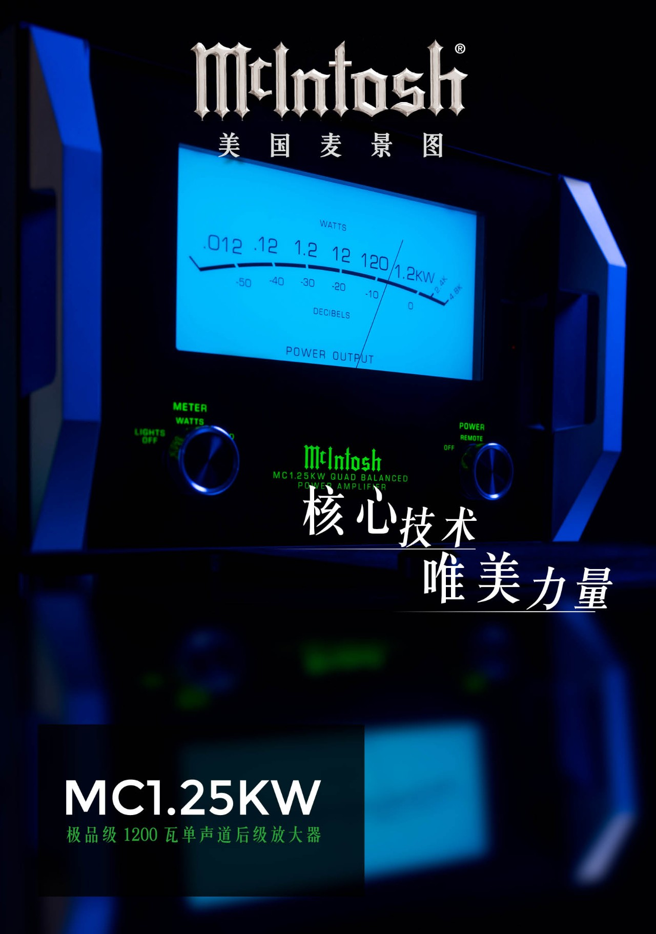 640 8 - 推荐 | McIntosh美国麦景图 MC1.25KW 极品级1200瓦单声道后级放大器