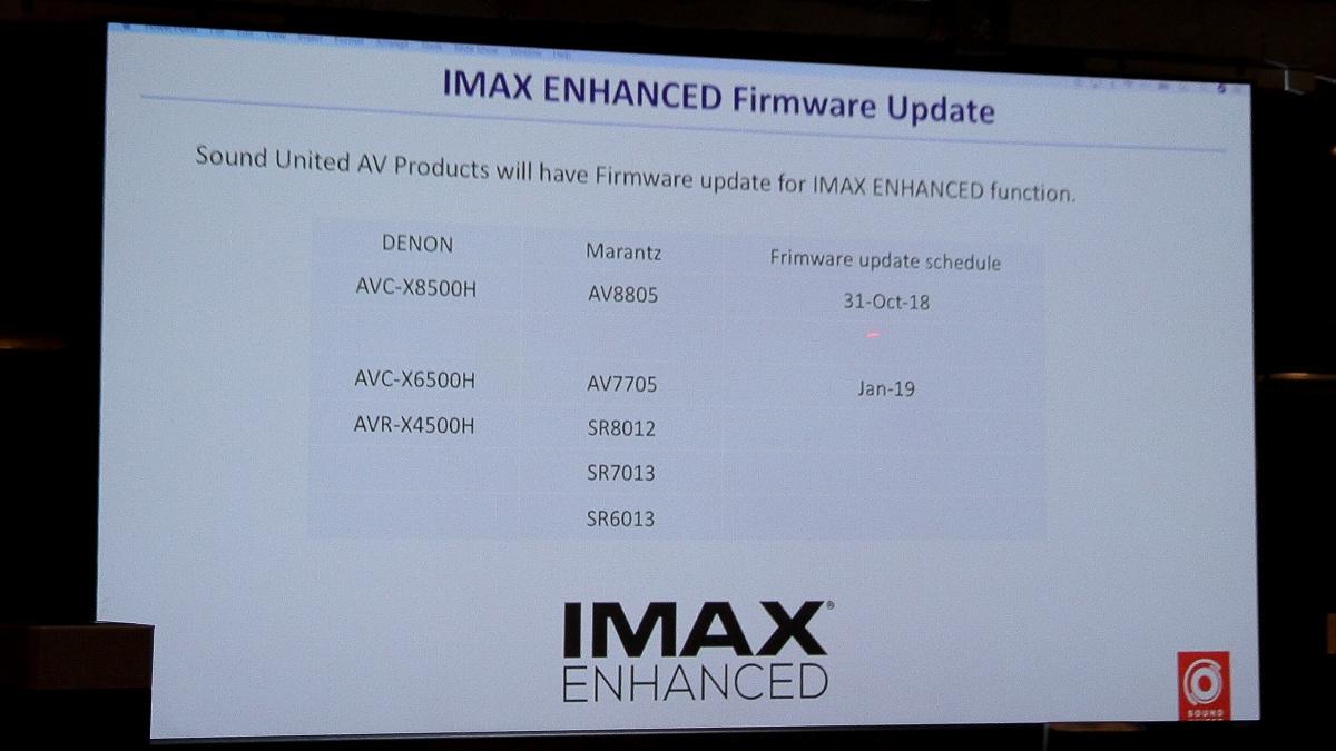 Denon 天龙 Marantz 马兰士 IMAX Enhanced