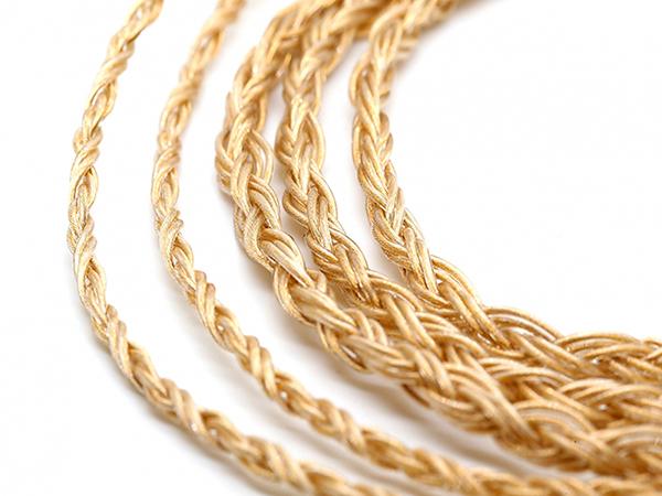 10股镀金单结晶银线的泰坦实力:Labkable-Headfi Titan-Au耳机线