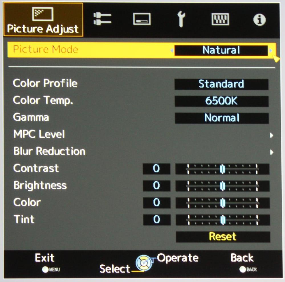 JVC RS600 Picture Menu 11 - 影音百科 | 什么是电视机的GAMMA和HDR EOTF?为什么在UHD/HDR时代,你应该在意这些参数?